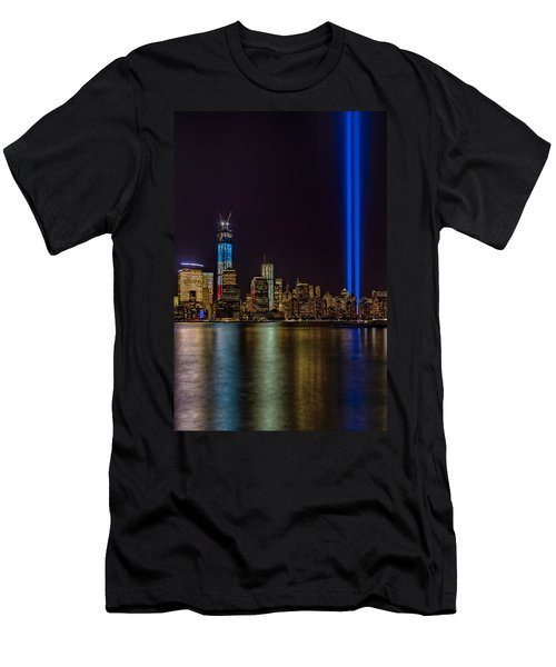 Tribute In Lights Memorial Men's T-Shirt (Slim Fit)