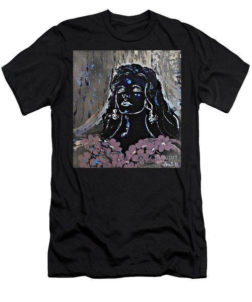 Tribute To Amalia Rodrigues Men's T-Shirt (Slim Fit) by AmaS Art
