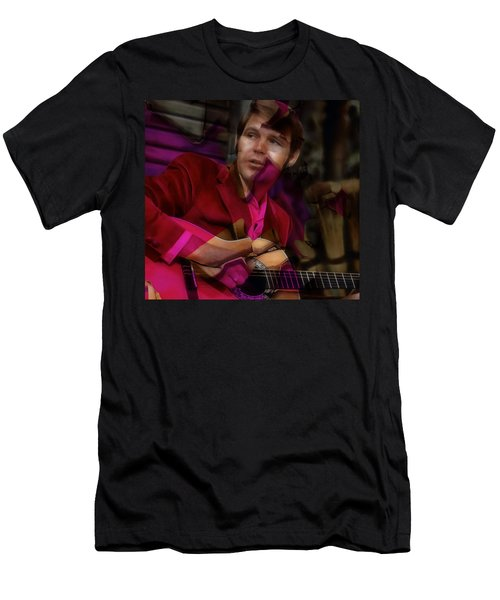 Men's T-Shirt (Athletic Fit) featuring the mixed media Tribute To Glen Campbell by Marvin Blaine