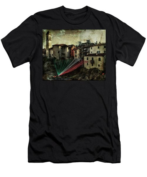 Tribute To Italy Men's T-Shirt (Athletic Fit)