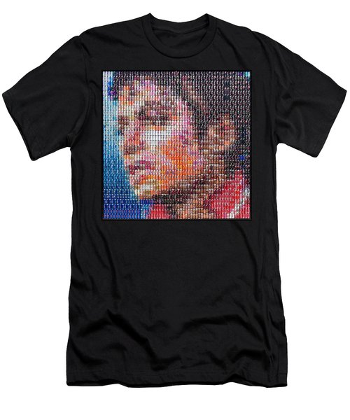 Tribute To The King Of Pop V2 Men's T-Shirt (Athletic Fit)