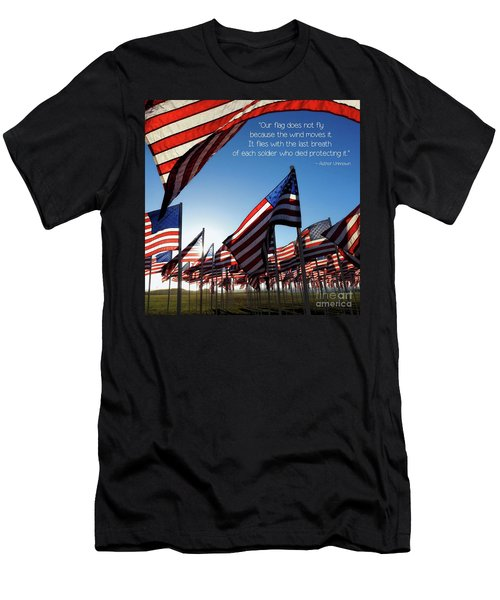 Men's T-Shirt (Athletic Fit) featuring the photograph Thank You by Peggy Hughes