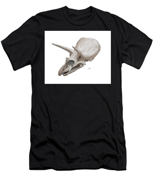 Triceratops Skull Men's T-Shirt (Athletic Fit)