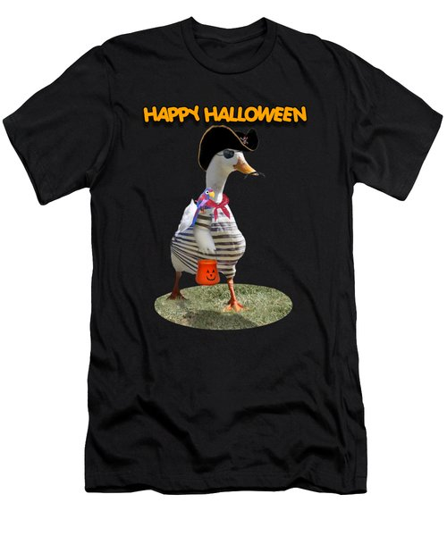 Trick Or Treat For Cap'n Duck Men's T-Shirt (Athletic Fit)