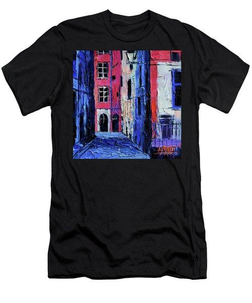 Trinite Square - Modern Impressionist Stylized Cityscape Men's T-Shirt (Athletic Fit)