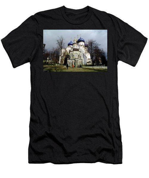 Trinity Lavra Of St. Sergius Russian Orthodox Churchsergiev Posad Men's T-Shirt (Slim Fit) by Wernher Krutein