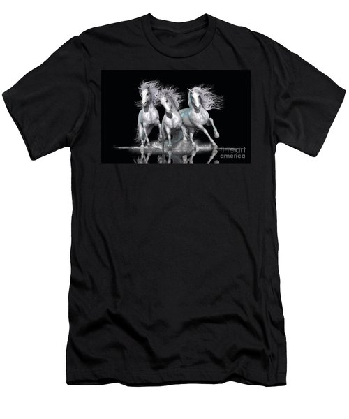 Men's T-Shirt (Slim Fit) featuring the digital art Trinity by Shanina Conway