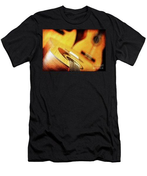 Trio Of Acoustic Guitars Men's T-Shirt (Athletic Fit)