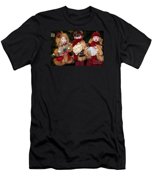 Men's T-Shirt (Slim Fit) featuring the photograph Trio Of Carolers by Vinnie Oakes