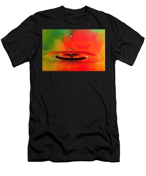 Triple Droplets Stop Action Men's T-Shirt (Athletic Fit)