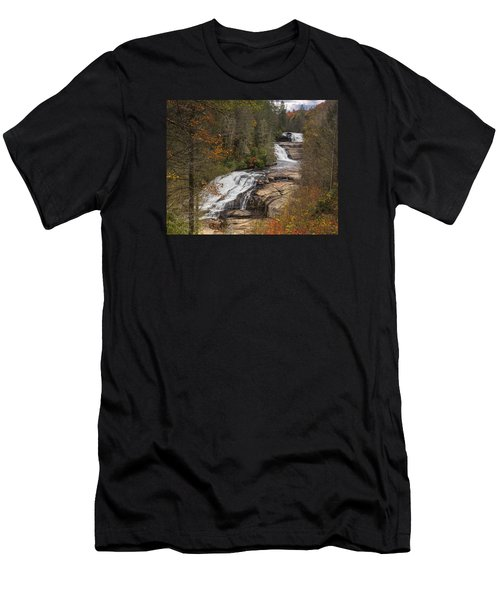 Men's T-Shirt (Athletic Fit) featuring the photograph Triple Falls by Ken Barrett