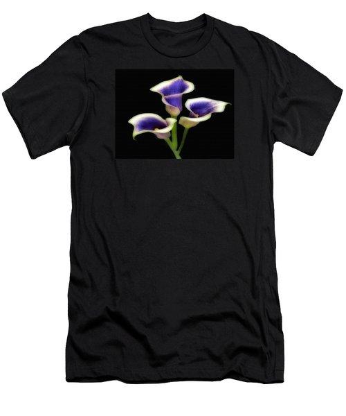 Triple Royal Floral Men's T-Shirt (Athletic Fit)