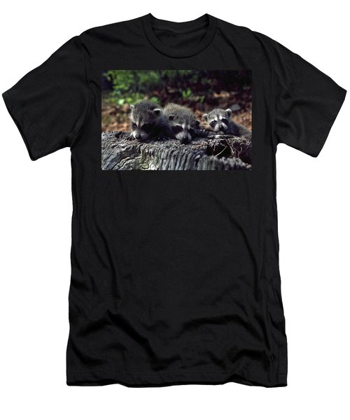 Men's T-Shirt (Slim Fit) featuring the photograph Triplets by Sally Weigand