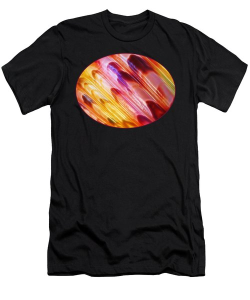 Triton Seashell Multicolor Abstract Men's T-Shirt (Athletic Fit)