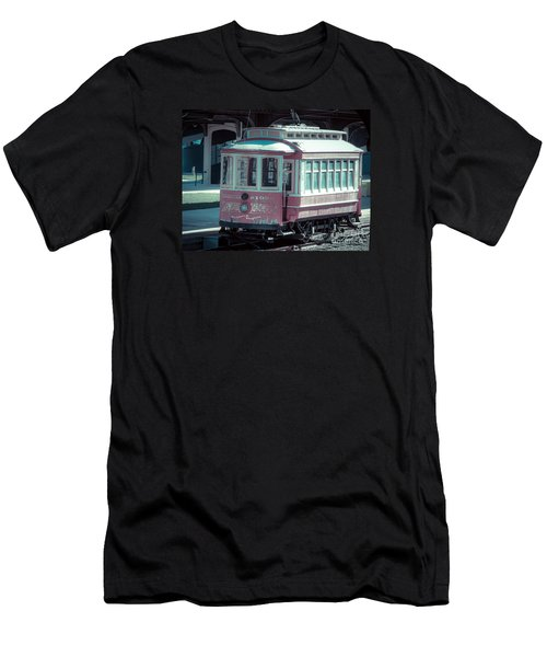 Men's T-Shirt (Slim Fit) featuring the photograph The Trolley by Melissa Messick