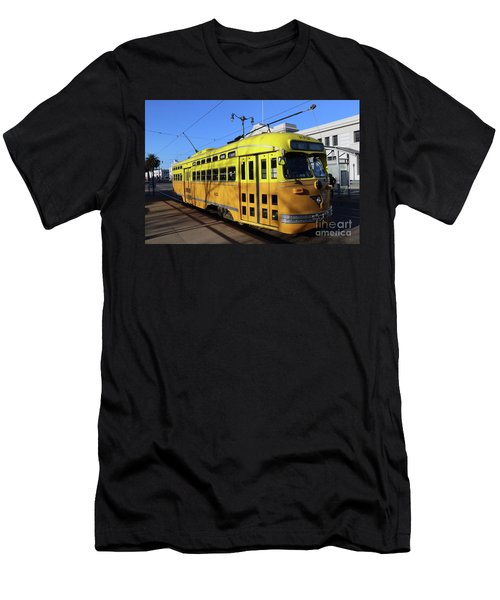 Men's T-Shirt (Slim Fit) featuring the photograph Trolley Number 1052 by Steven Spak