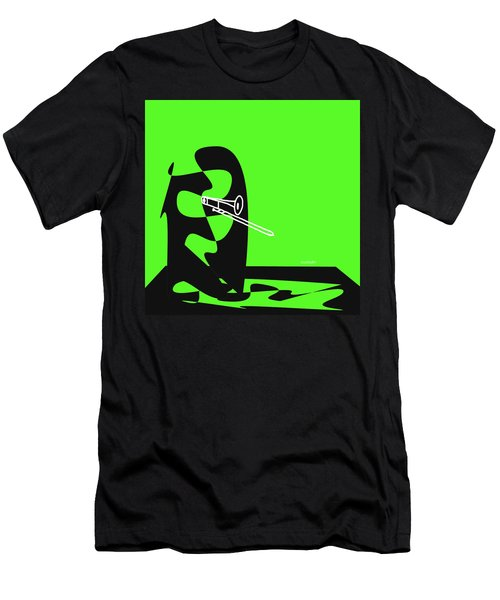 Trombone In Green Men's T-Shirt (Athletic Fit)