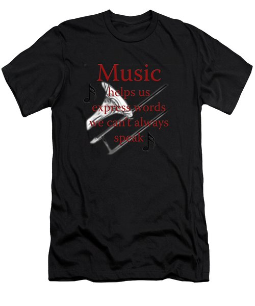 Trombone Music Expresses Words Men's T-Shirt (Athletic Fit)