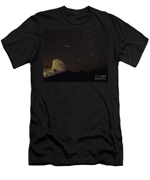 Trona Pinnacles Perseids Meteor Shower Men's T-Shirt (Athletic Fit)