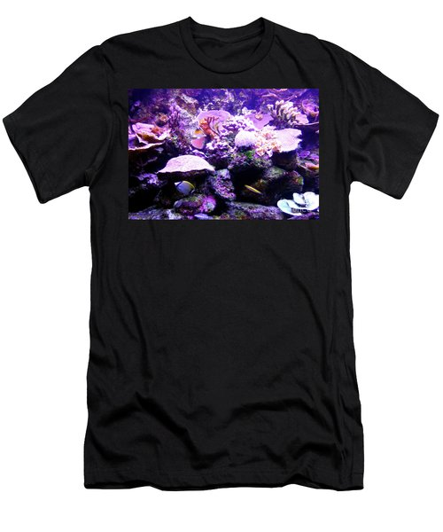 Men's T-Shirt (Athletic Fit) featuring the photograph Tropical Aquarium by Francesca Mackenney