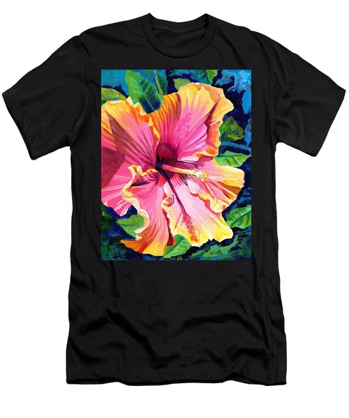 Tropical Bliss Hibiscus Men's T-Shirt (Athletic Fit)