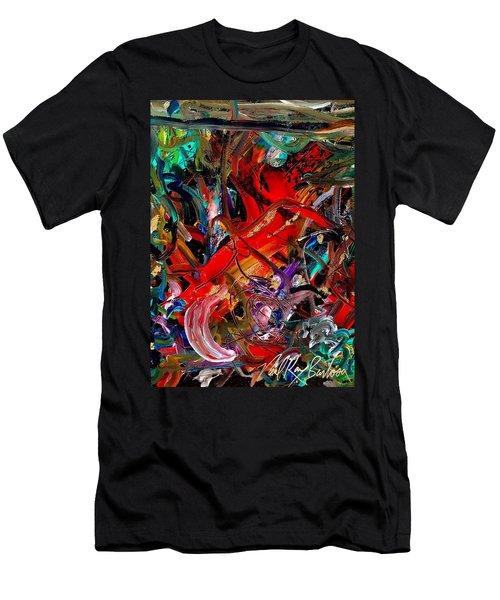 Tropical Cat Atack Men's T-Shirt (Athletic Fit)