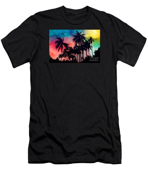 Tropical Colors Men's T-Shirt (Athletic Fit)