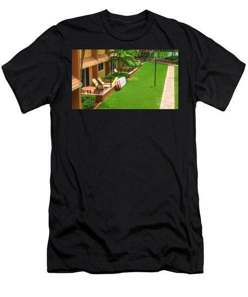 Tropical Courtyard Men's T-Shirt (Athletic Fit)