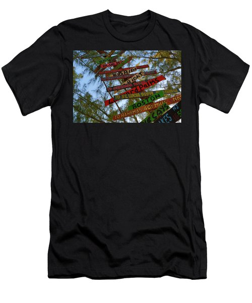 Tropical Directions Men's T-Shirt (Athletic Fit)