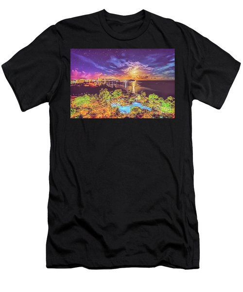 Men's T-Shirt (Athletic Fit) featuring the digital art Tropical Dream by Ray Shiu