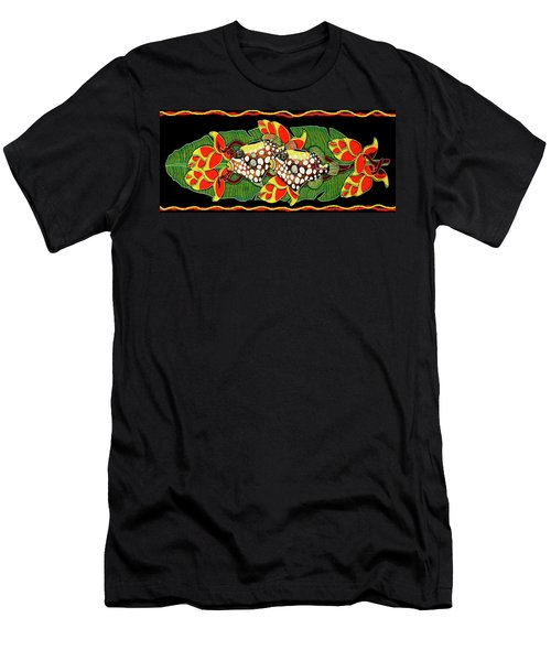 Tropical Fish Men's T-Shirt (Slim Fit) by Debbie Chamberlin