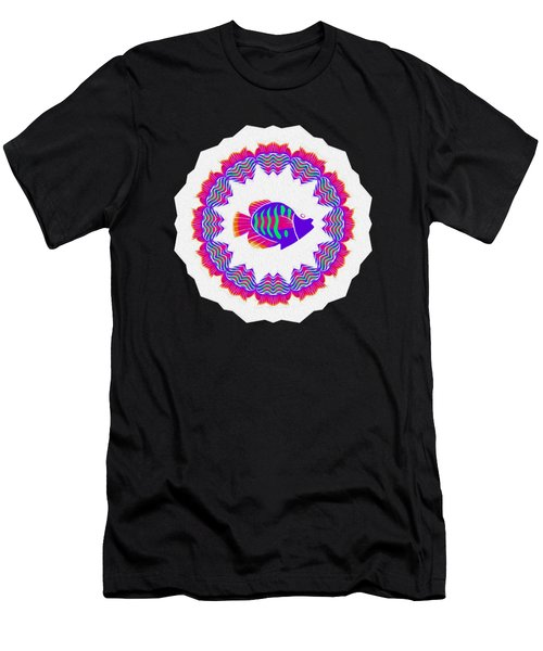Tropical Fish Kaleidoscope By Kaye Menner Men's T-Shirt (Athletic Fit)