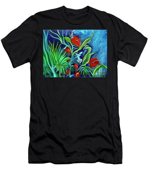 Tropical Flowers 1 Men's T-Shirt (Athletic Fit)