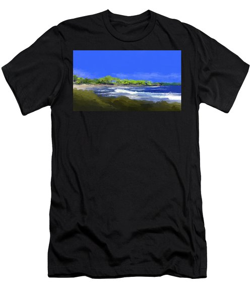 Tropical Island Coast Men's T-Shirt (Athletic Fit)