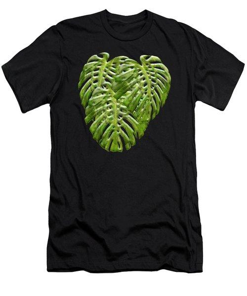 Tropical Jungle Greens Men's T-Shirt (Athletic Fit)