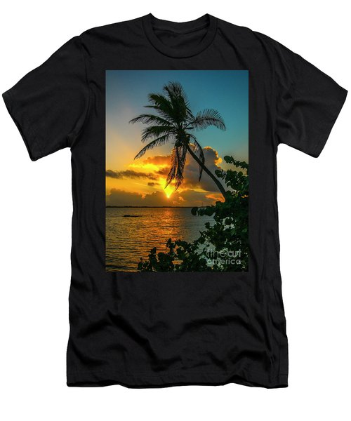 Tropical Lagoon Sunrise Men's T-Shirt (Athletic Fit)