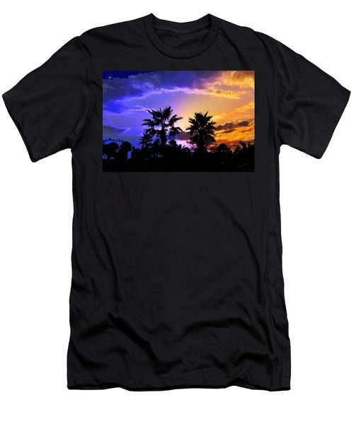 Men's T-Shirt (Slim Fit) featuring the photograph Tropical Nightfall by Francesa Miller