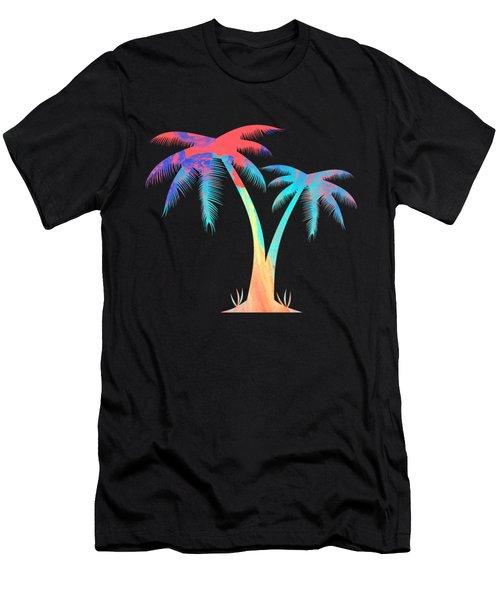 Tropical Palm Trees Men's T-Shirt (Athletic Fit)