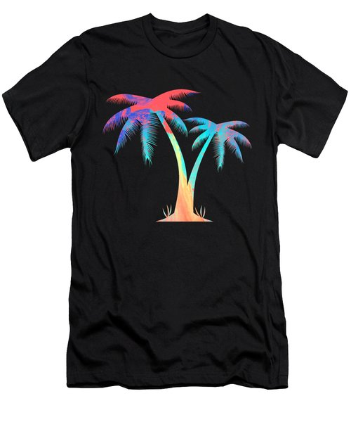 Tropical Palm Trees Men's T-Shirt (Athletic Fit)