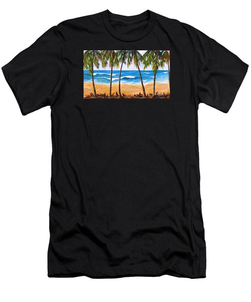 Tropical Palms 2 Men's T-Shirt (Athletic Fit)