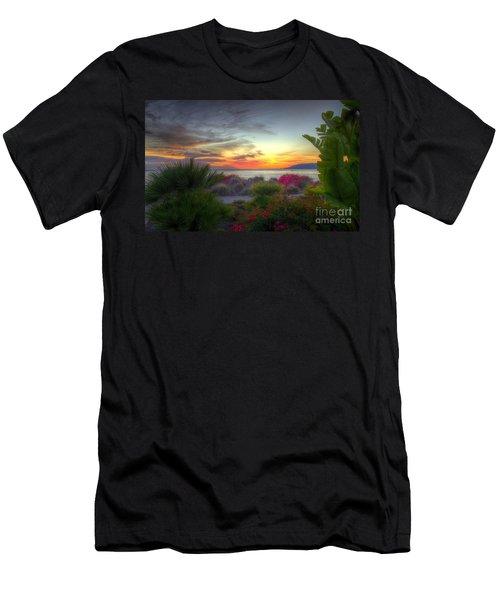 Tropical Paradise Sunset Men's T-Shirt (Athletic Fit)