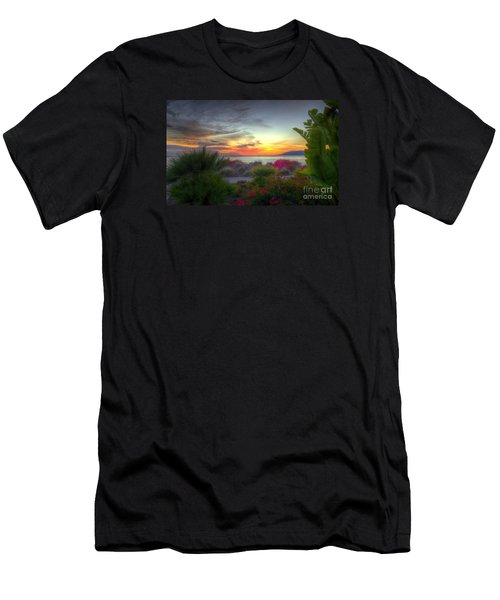 Tropical Paradise Sunset Men's T-Shirt (Athletic Fit)