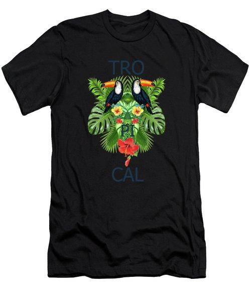 Tropical Summer  Men's T-Shirt (Athletic Fit)