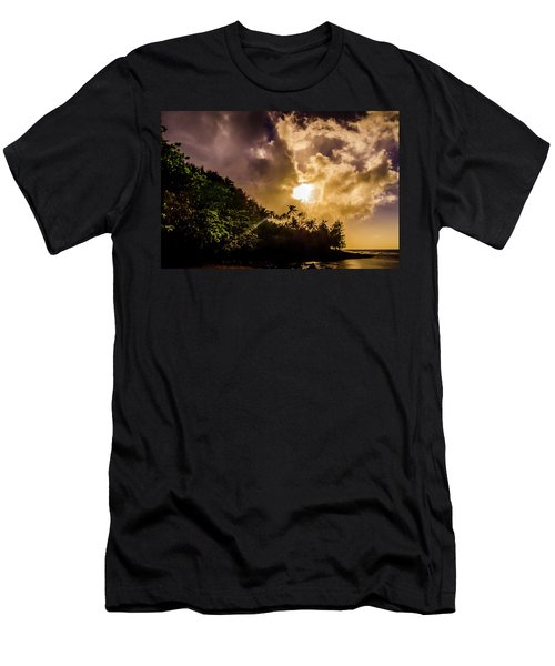 Tropical Sunset Men's T-Shirt (Athletic Fit)