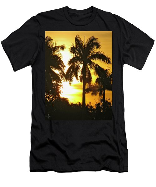 Tropical Sunset Palm Men's T-Shirt (Athletic Fit)