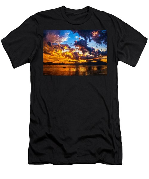 Tropical Twilight I Men's T-Shirt (Athletic Fit)