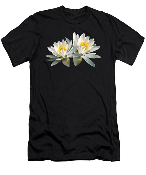 Tropical Water Lily Men's T-Shirt (Athletic Fit)