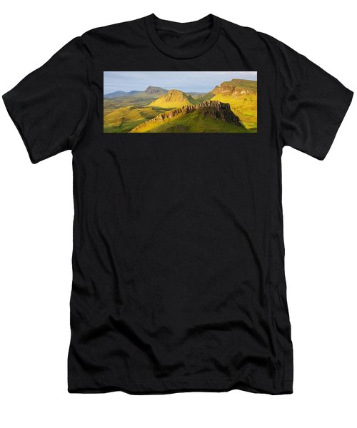Trotternish Summer Morning Panorama Men's T-Shirt (Athletic Fit)