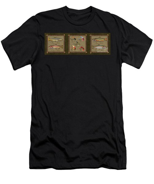 Trout Fly Panel Men's T-Shirt (Athletic Fit)