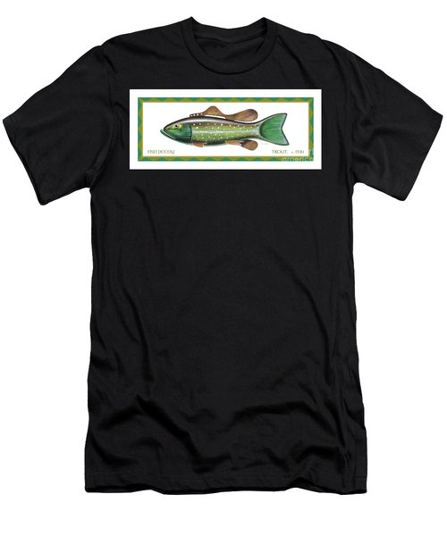 Trout Ice Fishing Decoy Men's T-Shirt (Athletic Fit)